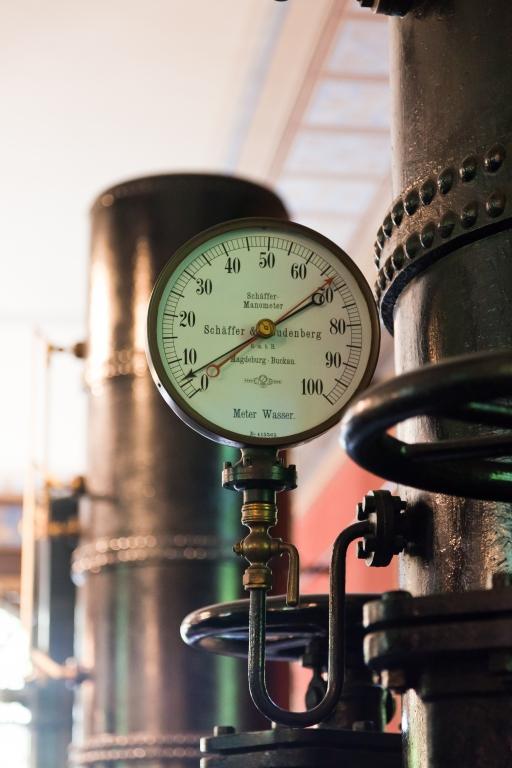 Historisches Wasserwerk Augsburg Manometer