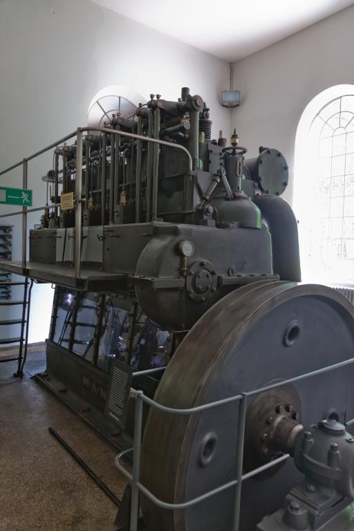 Historisches Wasserwerk Augsburg Dieselmotor