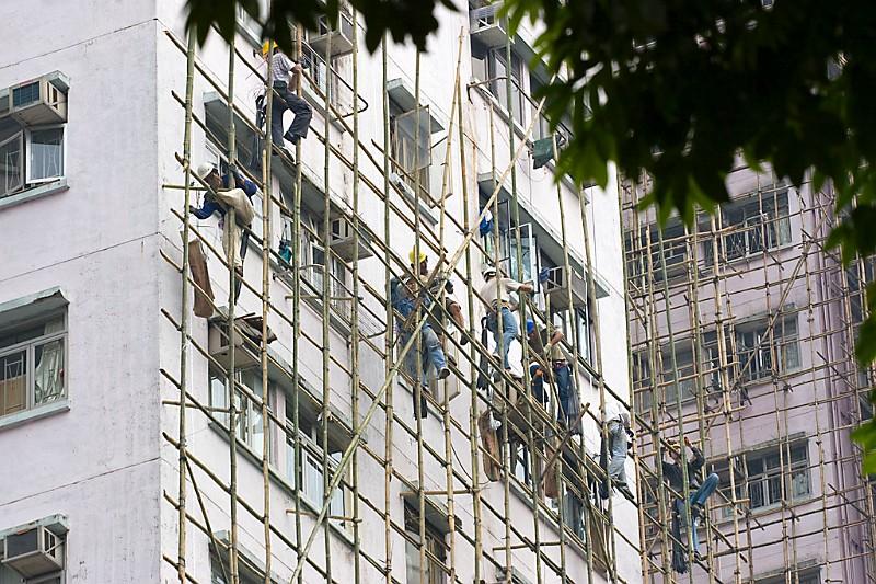 Hongkong Bambusgerüst