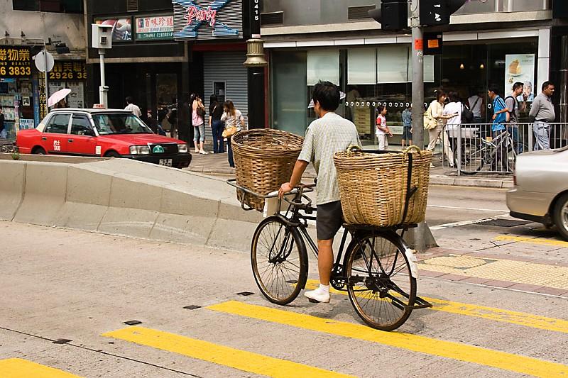 Hongkong Fahrradtransporter