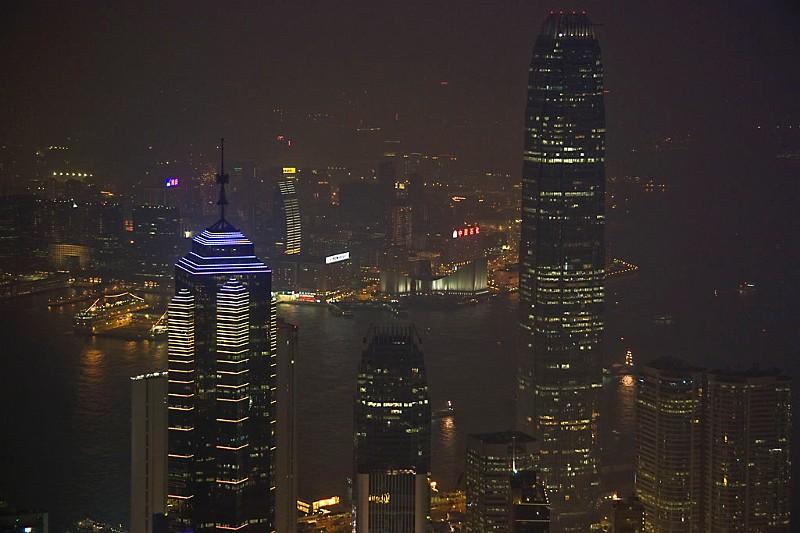 Hongkong Nacht am Victoria Peak