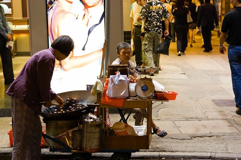 Hongkong Straßenhändler