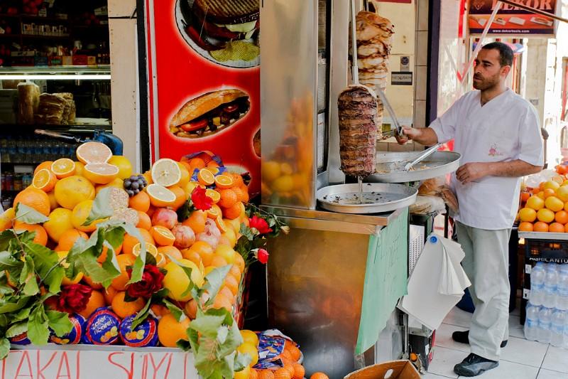 Istanbul Straßenrestaurant Karaköy
