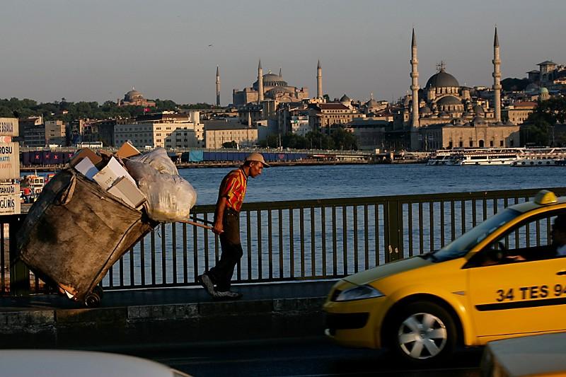 Istanbul Galata Blick auf Hagia Sophia