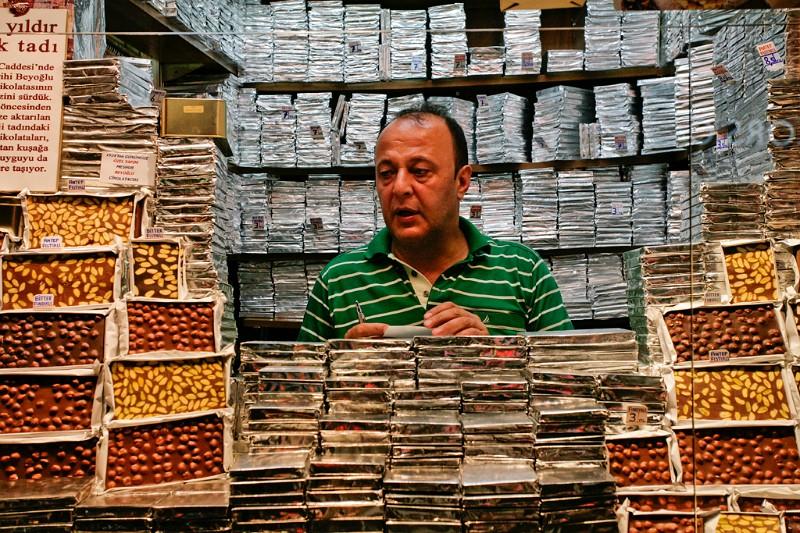 Istanbul Schokoladenstand