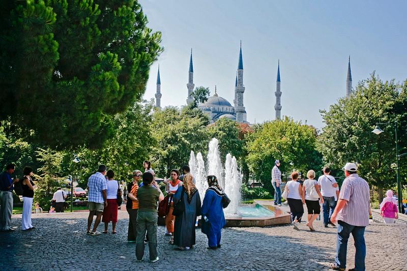 Istanbul Park mit blauer Moschee