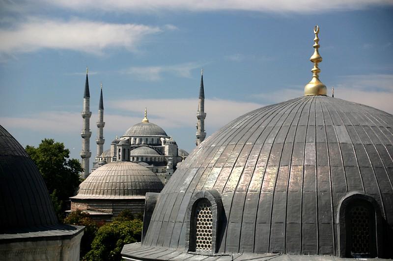 Istanbul Blick auf blaue Moschee