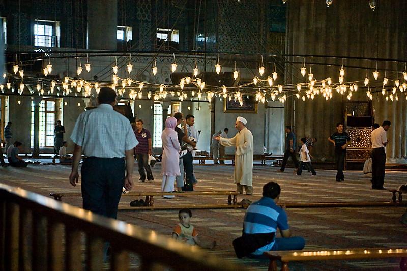 Istanbul Moschee nach Freitagsgebet