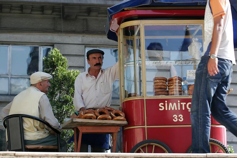 Istanbul Straßenverkäufer