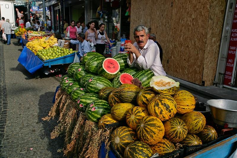 Istanbul Melonenverkäufer in Üsküdar