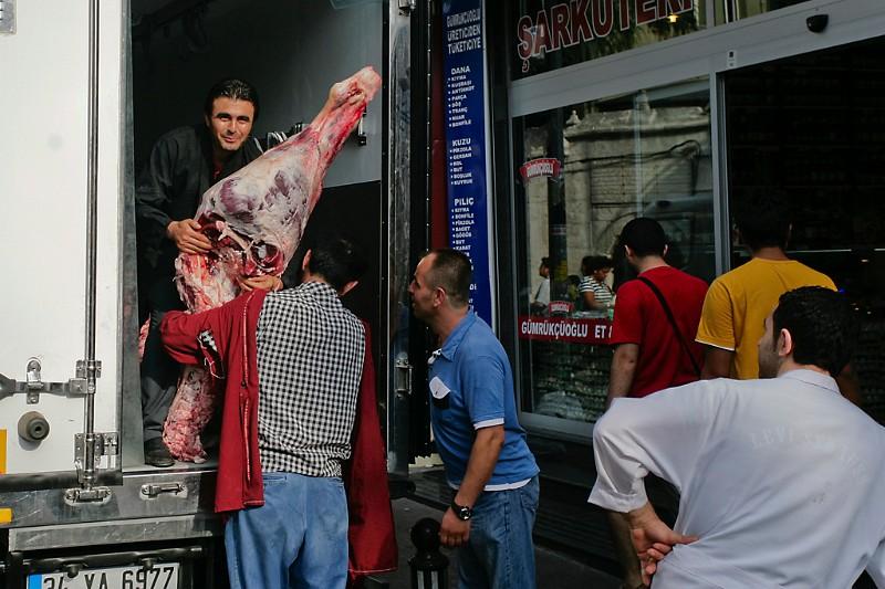 Istanbul  Fleischerei in Üsküdar
