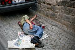 Istanbul Schlafplatz Straße