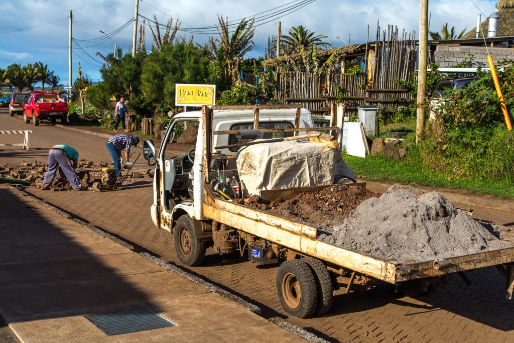 Osterinsel Straßenbau