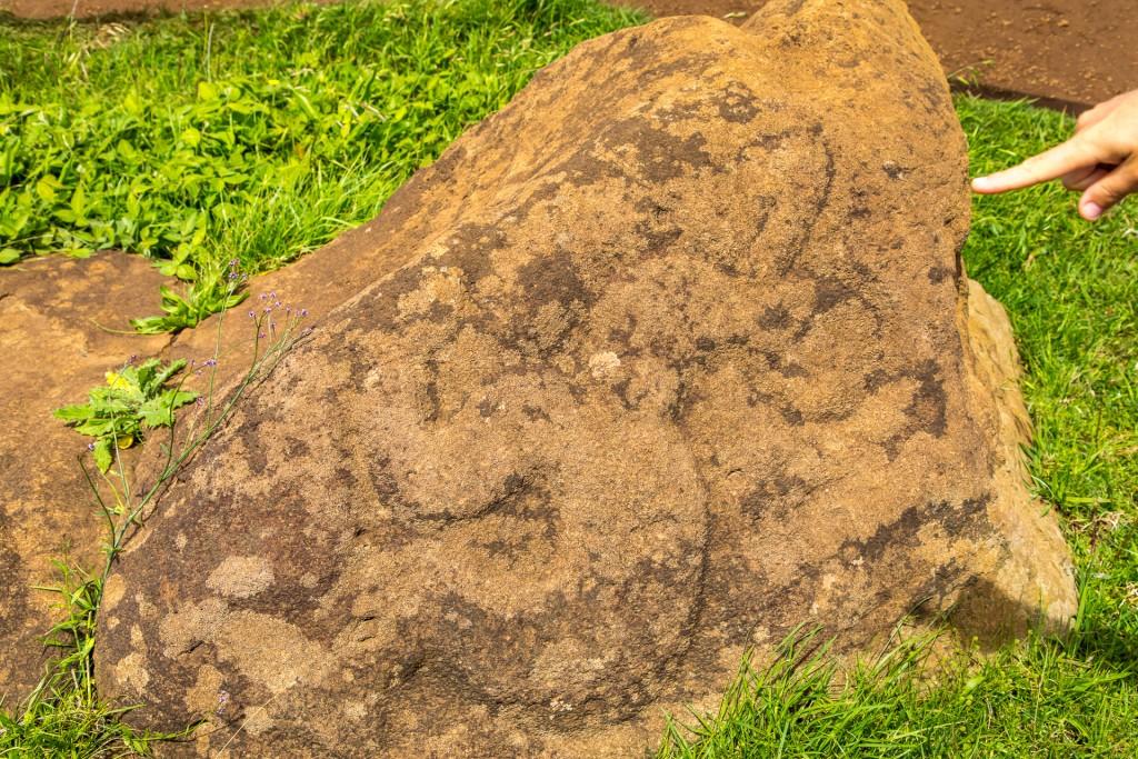 Osterinsel Petroglyph