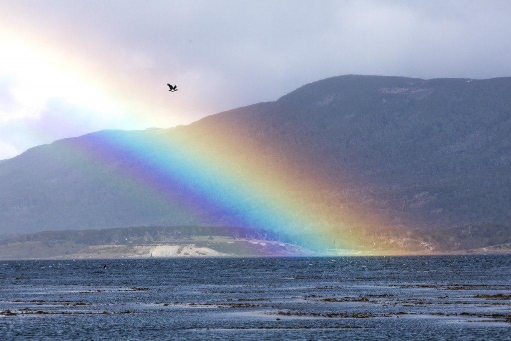 Regenbogen in Feuerland