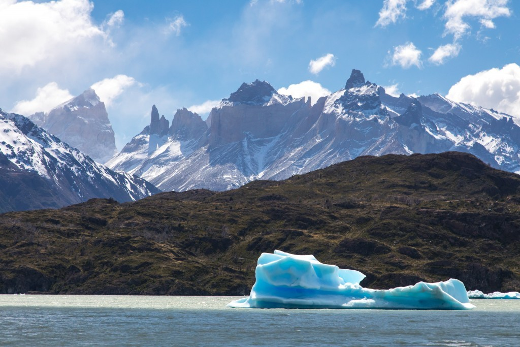 Eis im Lago Grey