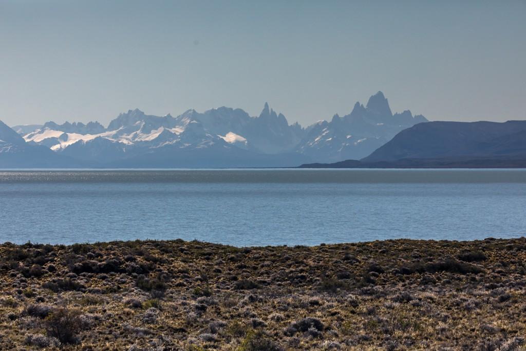 Lago Argentino mit Mount Fitzroy