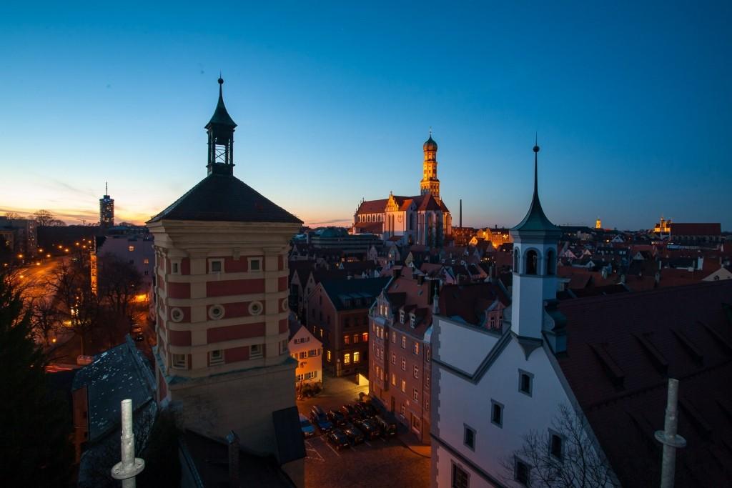 Rotes Tor mit St. Ulrich Augsburg