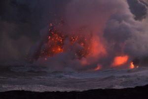 Big Island glühende Lava